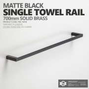 Variation-of-MODERN-Square-Matte-Black-700mm-Single-or-Double-Towel-Rail-Bathroom-Accessories-252748188388-3c83