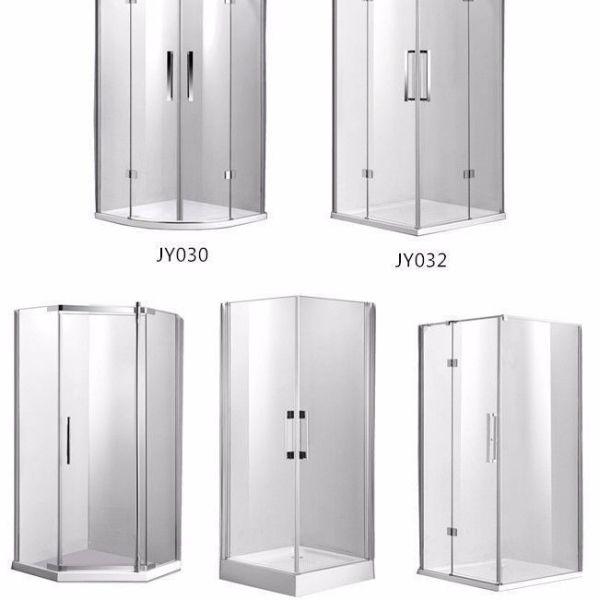 Frameless-Glass-Shower-Screen-Diamond-Square-Quadrant-1000x1000mm-Magnetic-Doors-252417578529