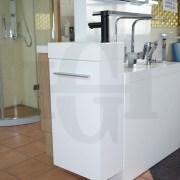MINI-Compact-400mm-White-Gloss-Polyurethane-Small-Slim-Narrow-Ensuite-Vanity-253261469289-5