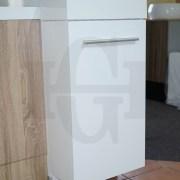 MINI-Compact-400mm-White-Gloss-Polyurethane-Small-Slim-Narrow-Ensuite-Vanity-253261469289-9