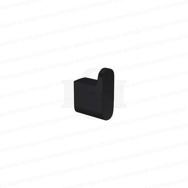 Modern-RoundOval-MATTE-BLACK-Wall-Mount-Robe-Hook-Bathroom-Accessories-253417793789