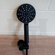 Premium-Electroplated-Round-Matte-Black-3-in-1-Hand-Held-Shower-w-Wall-Bracket-253121233159-5