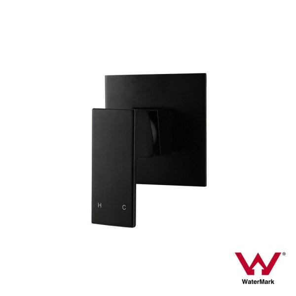 Premium-Electroplated-Square-Matte-Black-Ultra-Slim-Wall-Shower-Bath-Mixer-253200363179