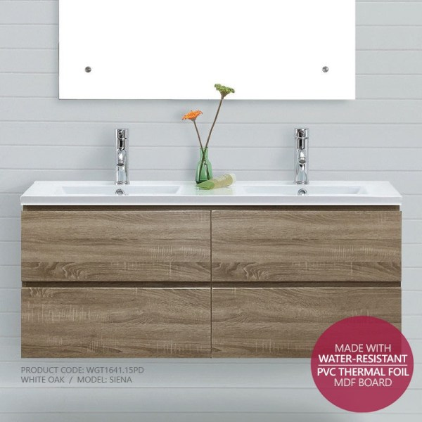 SIENA-1500mm-White-Oak-PVC-THERMAL-FOIL-Timber-Wood-Grain-Vanity-CARCASS-ONLY-252824250819