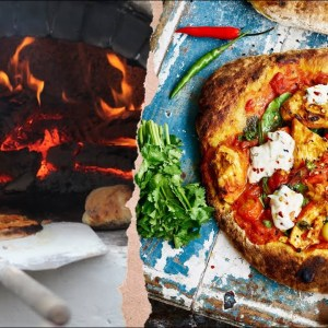 BUILD A PIZZA OVEN IN 5 MINS! + unbelievable Indian fusion Pizza RECIPE
