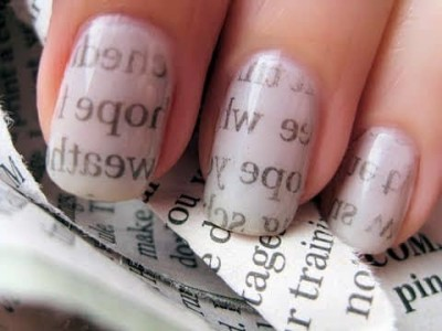 You May Have Seen That Newspaper Print Nail Polish Circle The Rounds On But Know Can Achieve This Art At Home With No