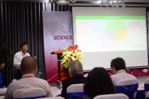 """Prof. Mai Trong Nhuan from Vietnam National University, delivering a plenary talk entitled """"Synergy of environment protection, climate change response and sustainable development: Lessons from Vietnam"""" (Photo: Tran Huynh Ngoc)"""