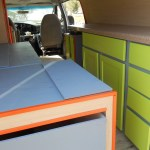 Campervan kitchen and storage for sale