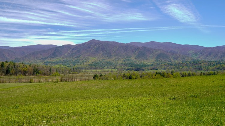 Cades Cover Valley in the Great Smoky National Park