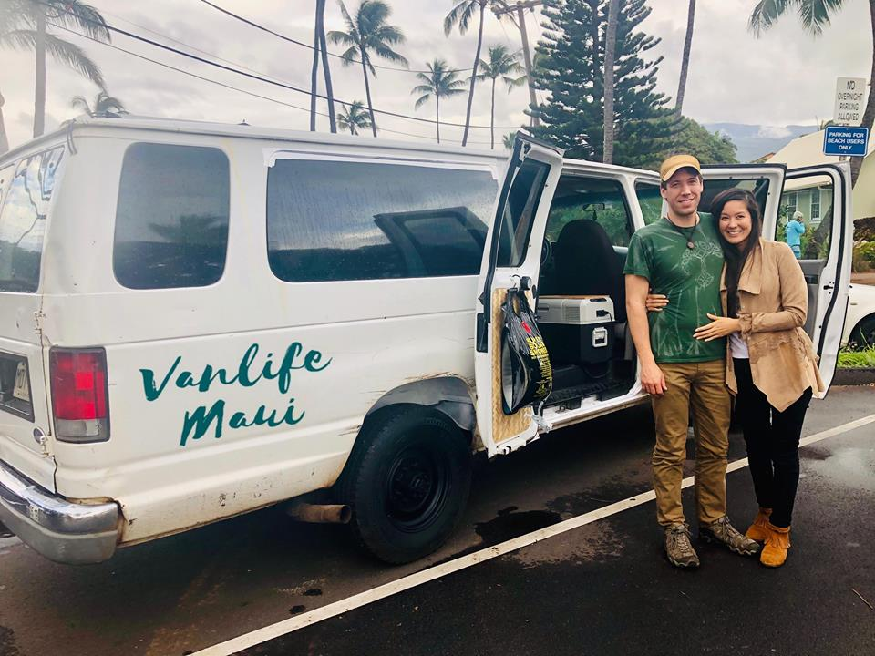 08d2a19f35 international guest from ogg airport kahului maui vanlife book campervan  rental vacation fully equipped vans dropoff