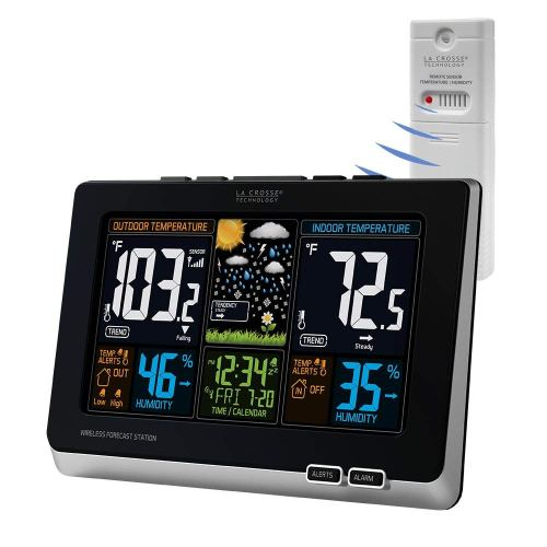 La Crosse Technology 308-1414W Wireless Atomic Digital Color Forecast Station with Alert