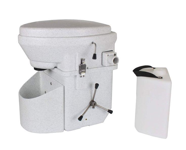 Nature's Head Self Contained Composting Toilet with Close Quarters Spider Handle Design #vanlife #vanliving #vanconversion #vanbuild