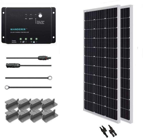 Starter solar kit #vanliving #vanlife #conversionvan #vanconversion #vanbuild #rvliving #rvlife