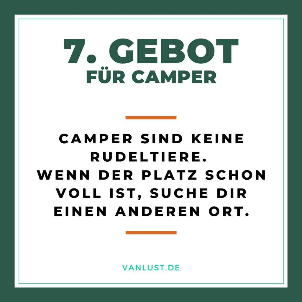 7. Gebot für Camper - 10 Gebote