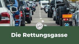 Die Rettungsgasse - sie kann Leben retten!
