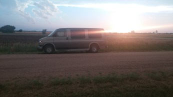 My van pulled over on the side of a dirt road. FAITH MECKLEY