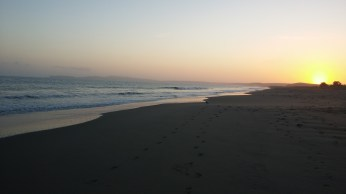 Sunset at Limantour Beach along the southwestern coast of Point Reyes National Seashore. FAITH MECKLEY