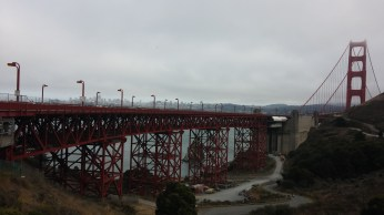 The view of the bridge from Marin County. FAITH MECKLEY