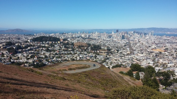 A beautiful look down over San Francisco from the Twin Peaks. FAITH MECKLEY