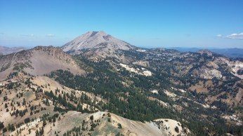 Lassen Peak in the distance, and you can almost see the outline of an ancienct volcano. FAITH MECKLEY