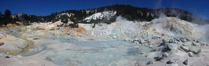The interesting color palette of Bumpass Hell. FAITH MECKLEY