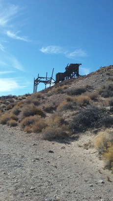 This building is a remnant of the Eureka gold Mind in Death Valley National Park. FAITH MECKLEY