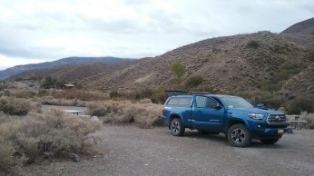 On our last night Death Valley National Park we camped out of Aria's truck in Wildrose Campground. FAITH MECKLEY