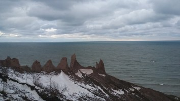 Ontario Lake and the chimney bluffs. FAITH MECKLEY