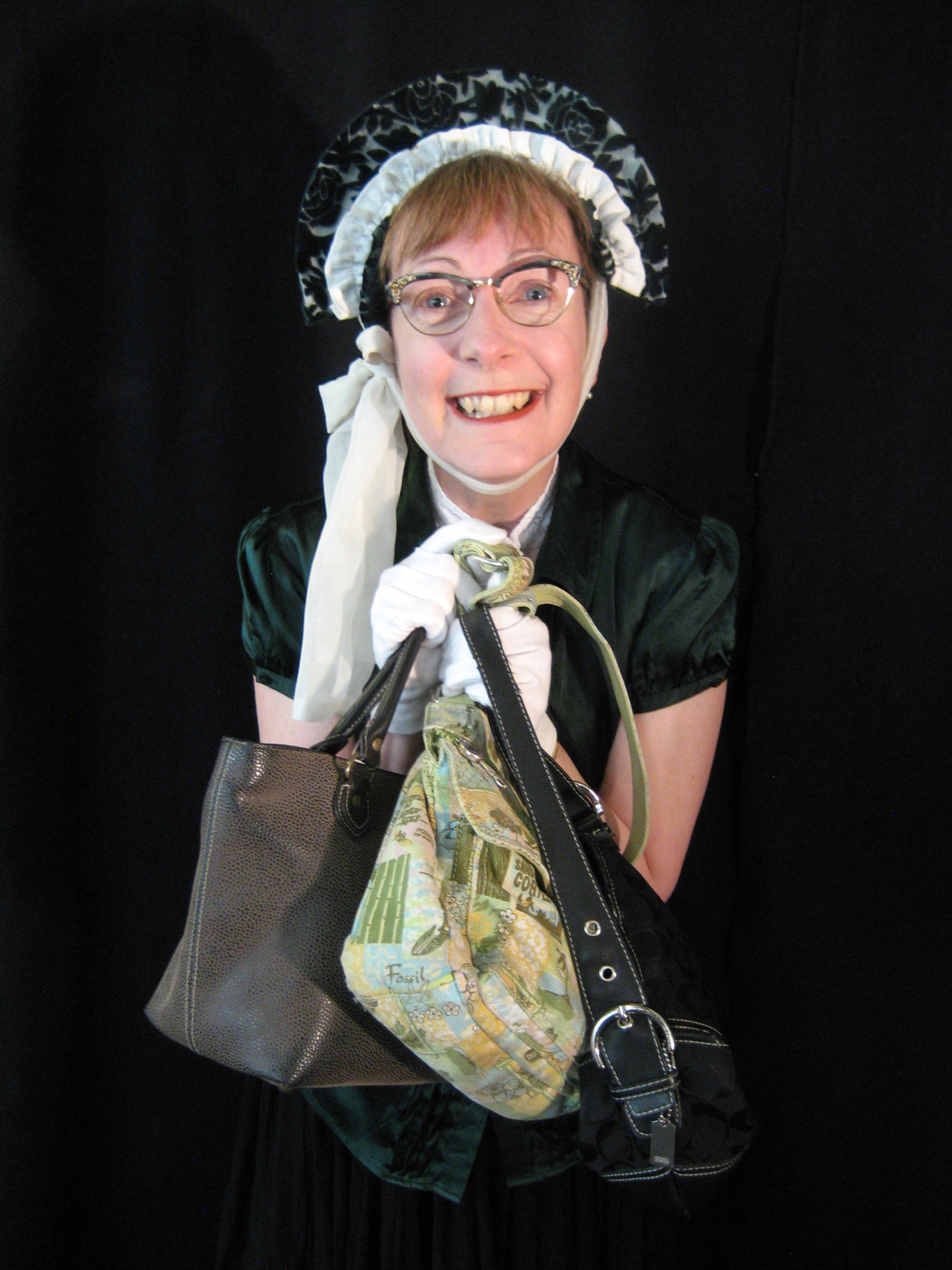 The Handbagler (Angela Towndrow) is armed and dangerous.