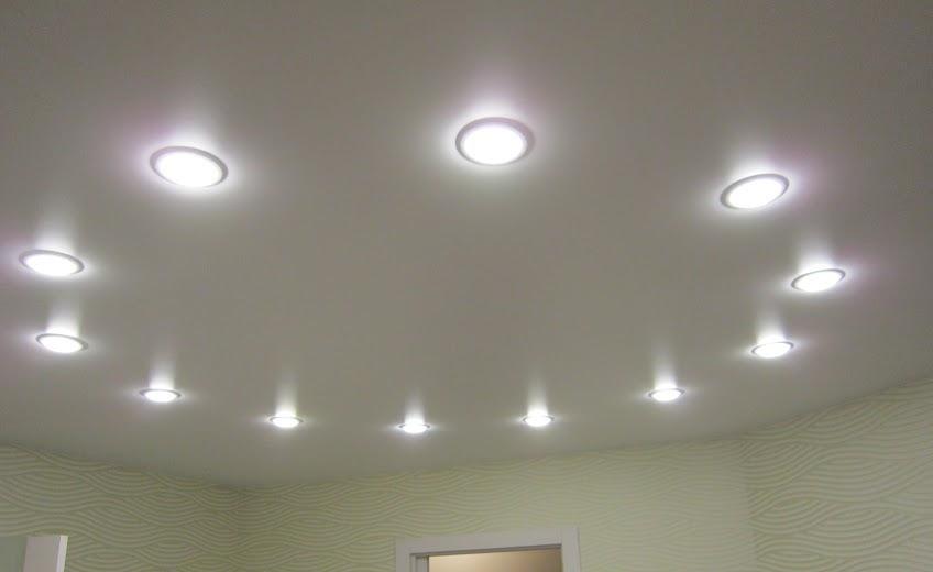 парке размещение лампочек на натяжном потолке фото процессе
