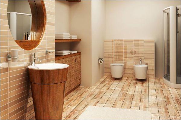 Дизайн ванной комнаты под дерево - создание дизайна под ...