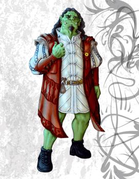 Jargalakz Scarazzer, Orc Adventurer