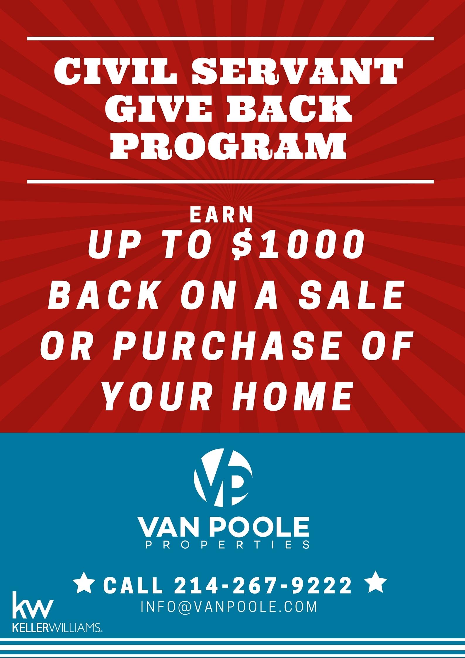 Civil Servant Give Back Program
