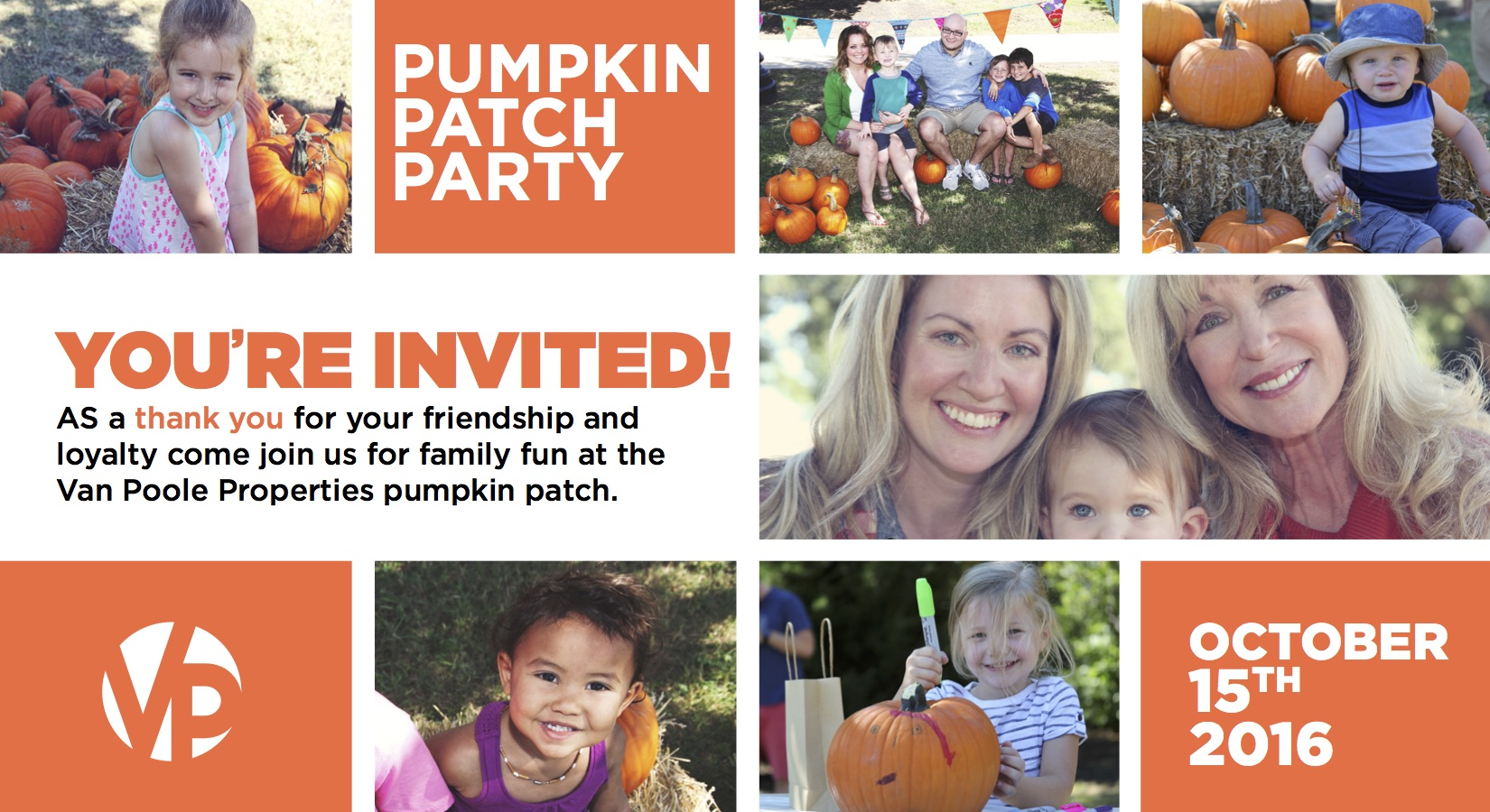 Join us for our 5th Annual VPP Pumpkin Patch 2016