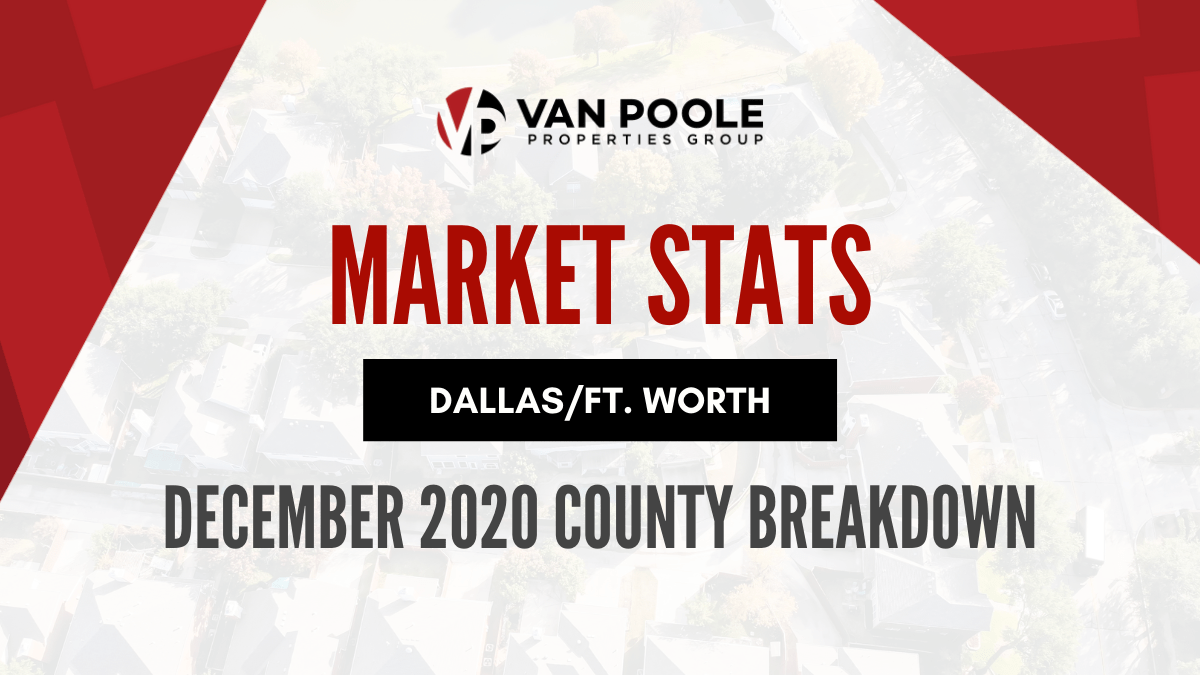 Dallas-Fort Worth Market Stats – December 2020 County Breakdown