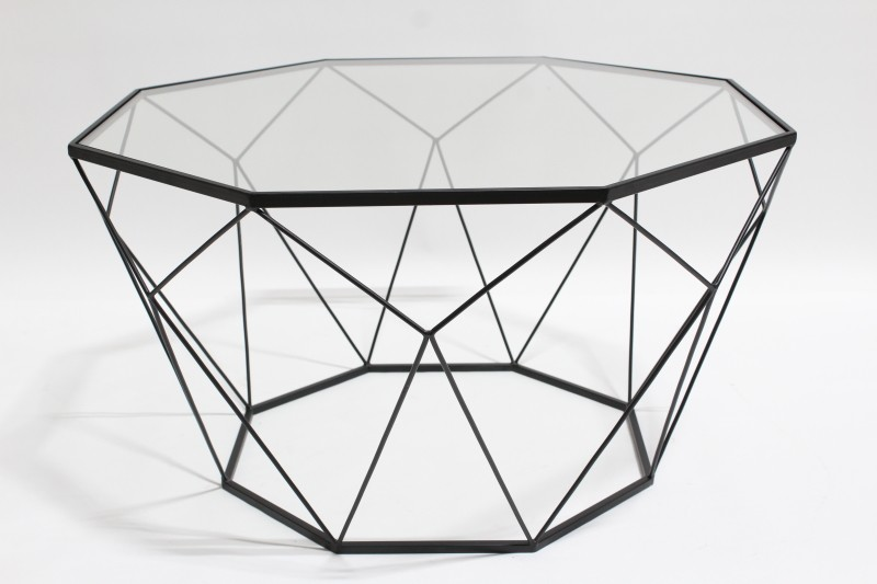 table coffee table black wire frame w
