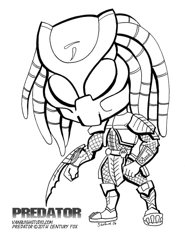 predator coloring pages # 6
