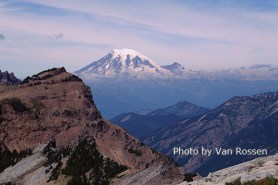 The Goats Rocks Wilderness if filled with wonderful views. As you climb Old Snowy the view looking north to Mt. Rainier is on of the best.
