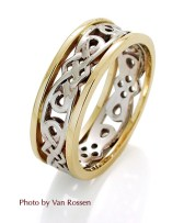 Celtic Ring on White Background