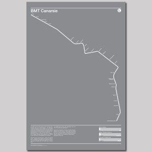 BMT Canarsie L Subway Poster