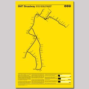 BMT Broadway NQR Subway Poster