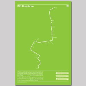 IND Crosstown G Subway Poster