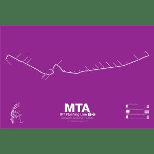 IRT Flushing Line 7 Subway Poster