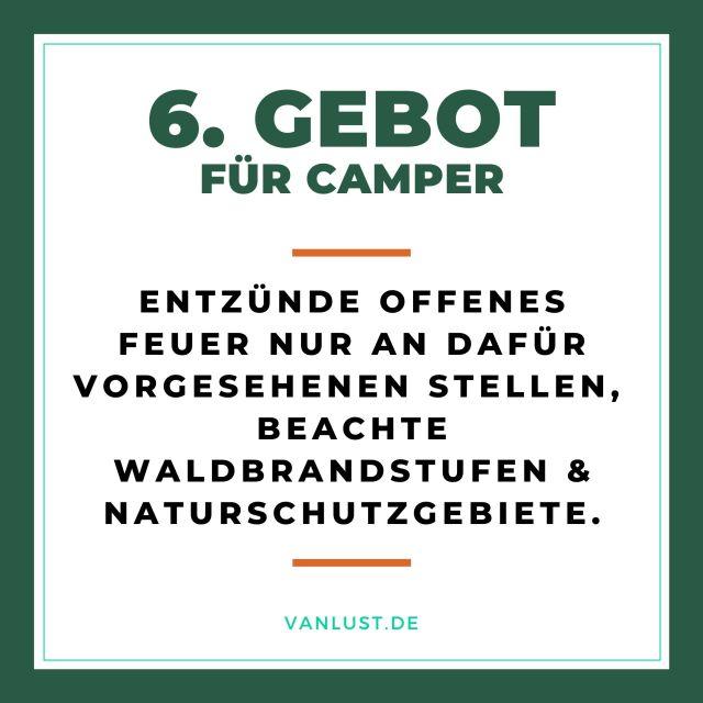 10 Gebote für Camper von Vanlust