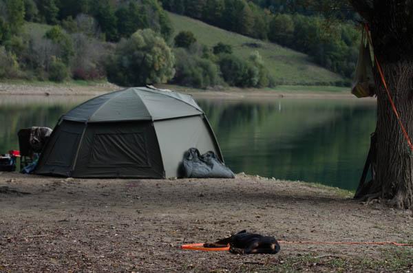 Camp beim Karpfenangeln