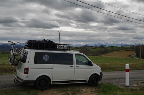 Roadtrip Frankreich, Campervan in den Pyrenäen