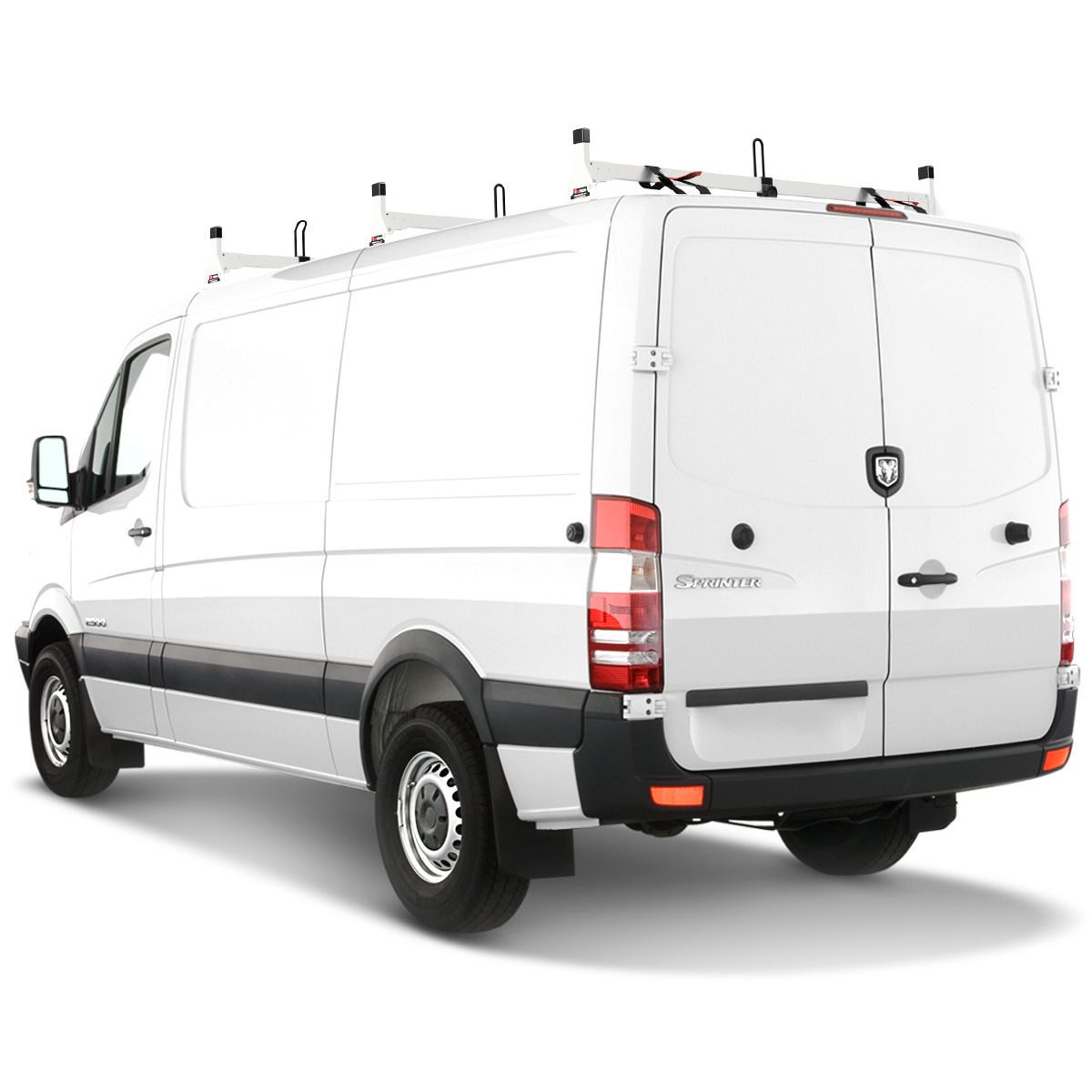 h1 ladder roof rack for 07 on sprinter low roof 144 wb