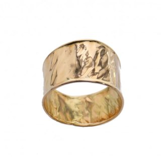 "HAMMERED RING ""FROISSE"""