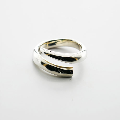 TUSK LARGE RING STERLING SILVER