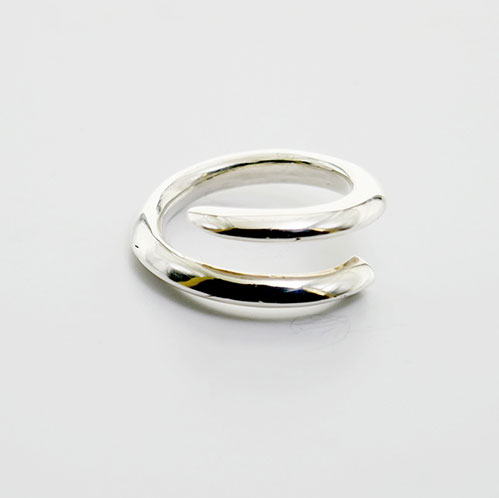 TUSK RING LARGE STERLING SILVER